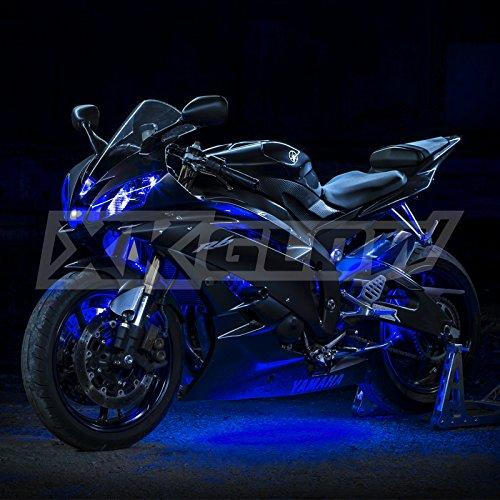 2nd Gen Premium Blue 10 Pods 4 Strips Motorcycle Engine