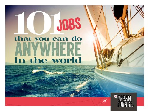 Jobs you can do from anywhere in the world