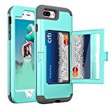 Best Wallet Cases With Cosmetics Mirrors - iPhone 8 Plus Wallet Case, ZAOX Heavy Duty Review