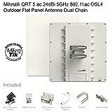 Mikrotik QRT 5 ac 24dBi 5GHz 802.11ac OSL4 Outdoor Flat Panel Antenna Dual Chain