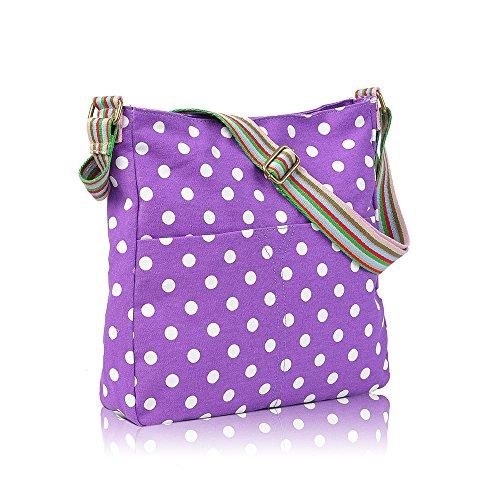 Barboncini Gufo Crossbody Animali E Fiori Lovely Uccelli Della Messenger Bags Purple Vintage Pois Cani Fattoria Salsiccia Scottie Polka pvAq0Owx4O