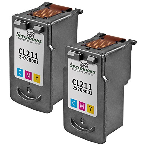 Speedy Inks - 2 Pack Canon CL-211 Color Remanufactured Inkjet Cartridge for use in PIXMA iP2700, PIXMA iP2702, PIXMA MP230, PIXMA MP240, PIXMA MP250, PIXMA MP270, PIXMA MP280, PIXMA MP480