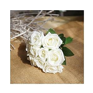 HOBULL Artificial Rose Flowers Fake Silk Flowers Artfen Simulation Rose Wedding Bouquets Fake Floral Rose Flower Silk Flower 52