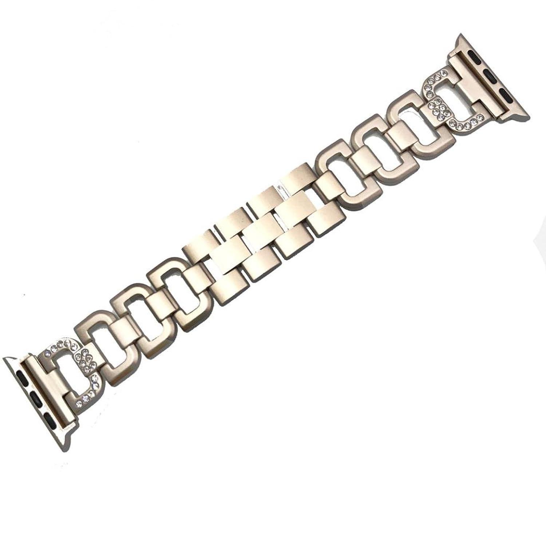 vesnibaステンレススチールストラップクリスタルダイヤモンドブレスレットfor Apple Watch 1 / 2 42 mm / Apple Watch 1 / 2 38 mm M Apple Watch 1/2 42mm, Khaki  Apple Watch 1/2 42mm, Khaki B075J8Z8CS