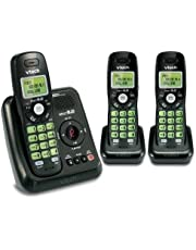 Vtech DECT 6.0 3 Cordless Phones with Caller ID, ITAD, Black - CS6124-31, 3 Handset Size