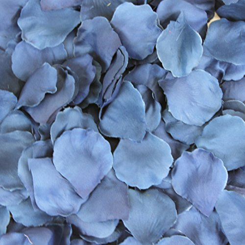 Koyal Wholesale 200-Pack Silk Rose Petals, Navy Blue