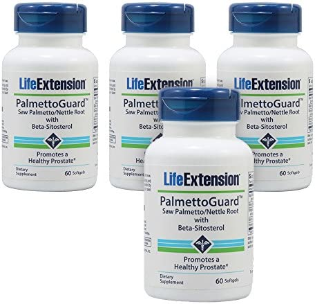 Life Extension PalmettoGuard Saw Palmetto Nettle Root Formula with Beta-Sitosterol – 60 Softgels – 4-Pak