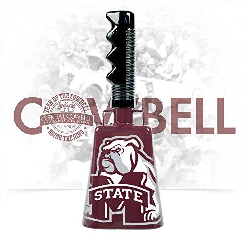 Oversized Bulldog MState Logo Cowbell (Maroon) -