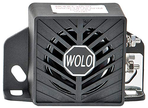 (Wolo Back Up Alarm, 97dB, Black, 2-1/2 In. H - BA-97)