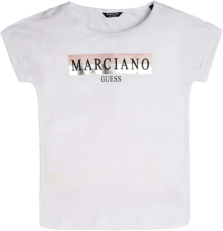 Guess T-Shirt Bianca Effetto Laminato by Marciano Ragazza Bimba Bambina