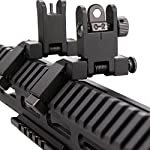 KINBON Tactial AR15 Front and Real 45 Degree Offset Sights Set, Offset 45 Degree Flip Up Rapid Transition BUIS Backup Iron Sights + 1 Pcs Adjustment Tool with 4 & 5 Pron for Picatinny/Weaver Rail