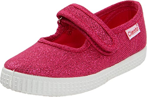 (Cienta Kids Shoes Girls' 56013 (Infant/Toddler/Little Big Kid), Fuchsia Metallic, 35 (US 3.5 M)