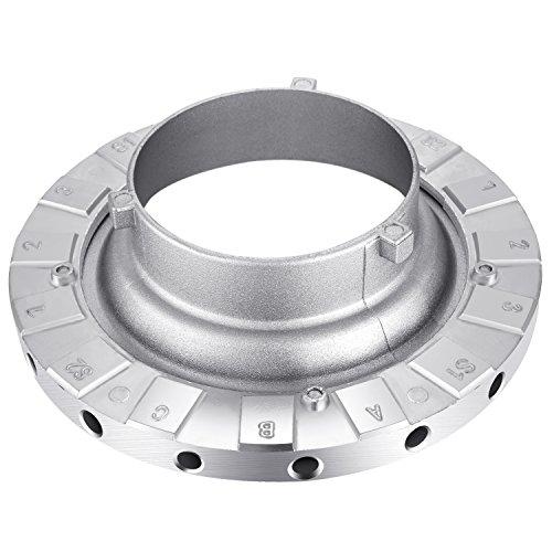 Neewer Metal Bowens Speed Ring Speedring Adapter for Bowens Softbox for Speedlite Studio Flash Strobe Monolight (Strobe Speed Ring)