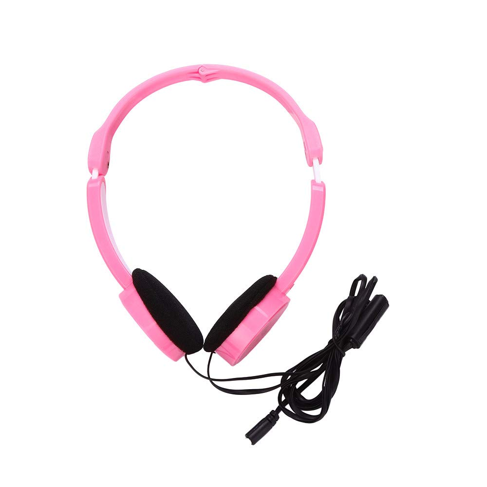 SUGEER Kids Wire Headphones On Ear Foldable Stereo Headset for Kids Earphone T-111 Connected Headphones Active Noise Cancelling Comfortable Earpads Playtime HD Stereo Bass Sound