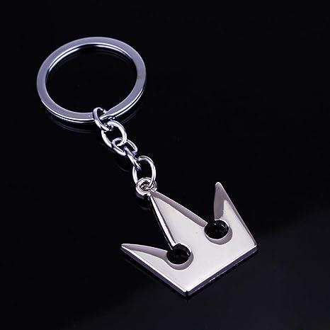 Kingdom Hearts Keychain Gold Silver Plated Keyblade Key Pendant Key Ring Holder