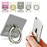 BUTEFO Smart Ring Stand Holder - Mobile Phone Ring Stent - Anti-theft Clasp - Anti-drop - 360 Degree Rotating Metal Ring Holder Mobile Phone Stand (Silver)