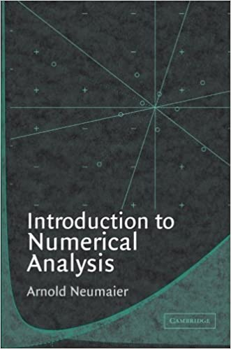 Book Introduction to Numerical Analysis by Arnold Neumaier (2001-10-18)