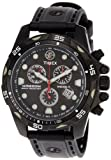 Timex Men's T49803 Expedition Black Stainless Steel Rubber Chronograph Watch