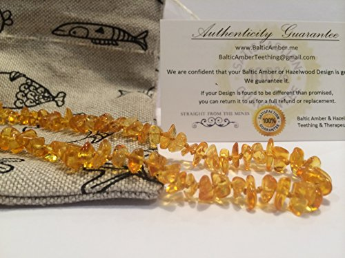 12.5 Inch Baltic Amber Teething Necklace for Toddler  -