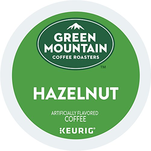 Green Mountain Coffee Roasters Hazelnut Keurig Unwed-Serve K-Cup Pods, Light Roast Coffee, 72 Count (6 Boxes of 12 Pods)