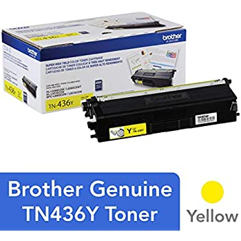 Brother Genuine Super High Yield Toner Cartridge, TN436Y, Replacement Yellow Toner, Page Yield Up To 6,500 Pages, Amazon Dash Replenishment Cartridge, ...