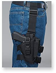 Bulldog Cases Right Hand Black Tactical Leg Holster (Fits Most Compact Auto\'s with 2 1/2-Inch - 3 3/4-Inch Barrels, Taurus Pt-111)