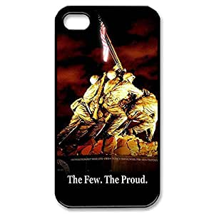 Fancy USMC Marine Corps Lightweight Printed Hard Plastic case Snap-on cover for iphone 5c Black 02109