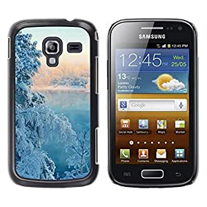 LECELL -- Funda protectora / Cubierta / Piel For Samsung Galaxy Ace 2 I8160 Ace II X S7560M -- Nature Winter Snow Tree --