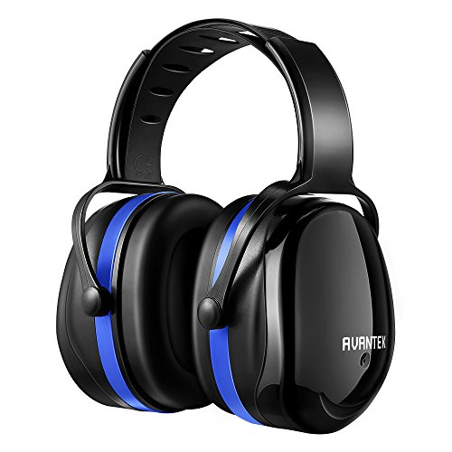 Ear Protection, AVANTEK 34dB Shooting Hearing Protection Safety Ear Muffs with a Twist Resistant Headband