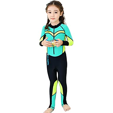71d51fc4dd Girls Wetsuit Swimwear One Piece - Boys Swimsuit Beachwear Kids Surfing  Suits Diving Suit Bathing Suit Children Swimming Costume Bodysuit: Amazon.co .uk: ...