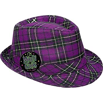 ef0dd3b5ea5 Amazon.com  Plaid Mardi Gras Fedora  Toys   Games