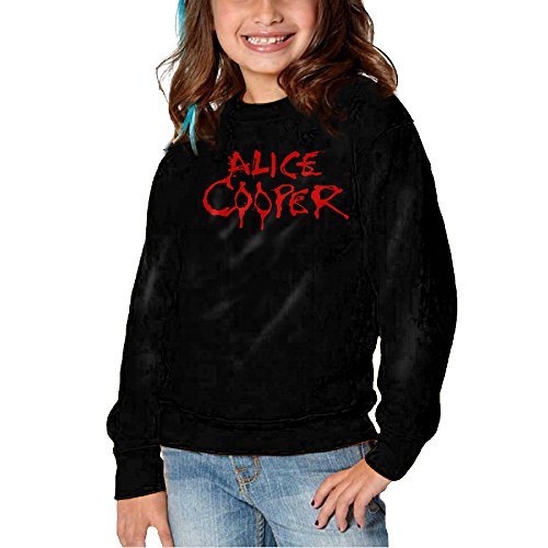 [KLIU Kid's Alice Cooper Logo Boy's & Girl's Crew Neck Hoodie Black Size 3 Toddler] (Hollywood Studios Costumes Welcome)