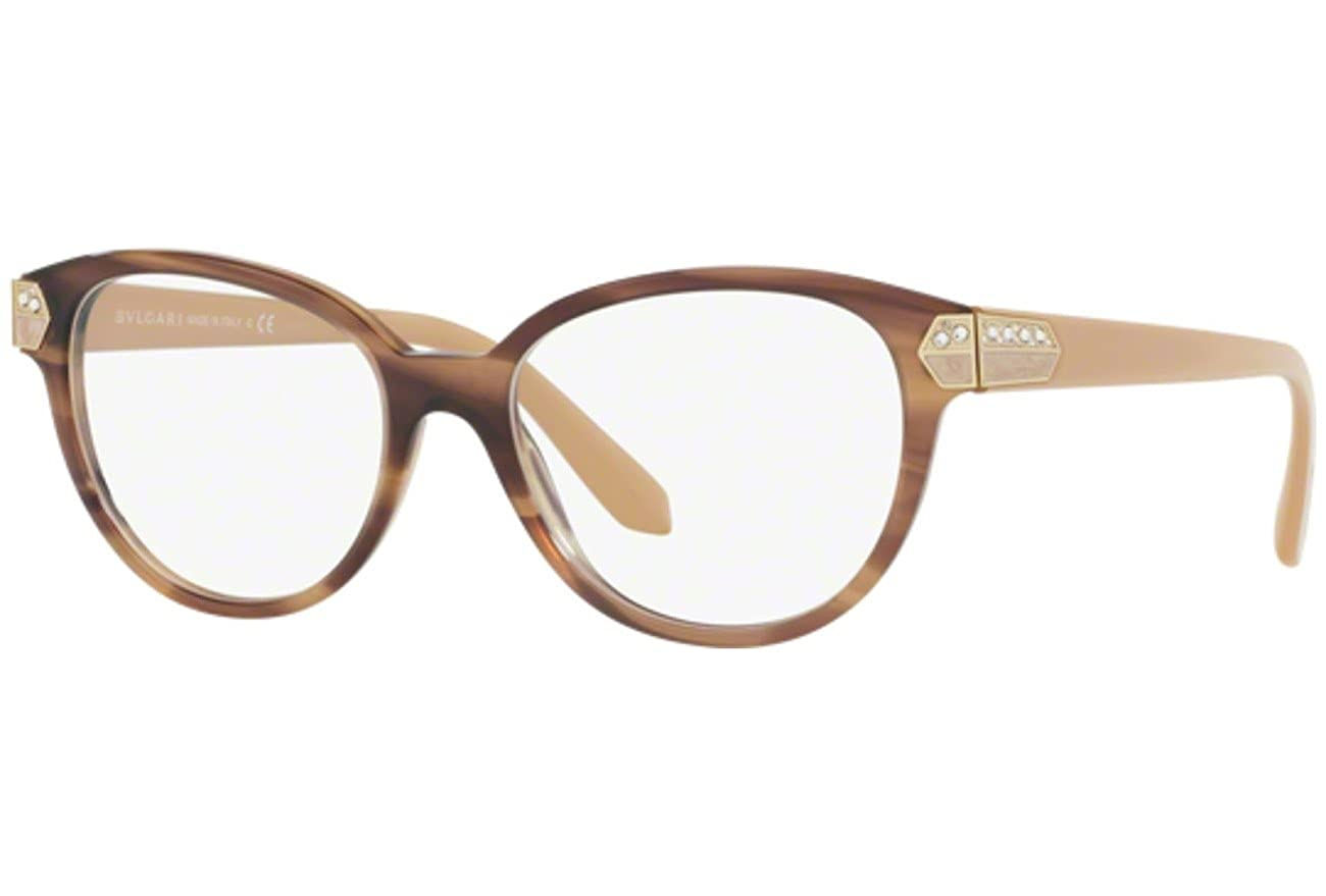 Bvlgari BV4136B Eyeglasses 5240 Striped Brown 54-17-145  Amazon.co.uk   Shoes   Bags 59666666bd9