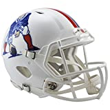 NFL New England Patriots Riddell Full Size Throwback Revolution Speed Helmet, Medium, Red