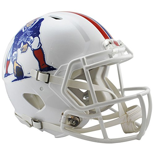 NFL New England Patriots Riddell Full Size Throwback Revolution Speed Helmet, Medium, Red by Riddell