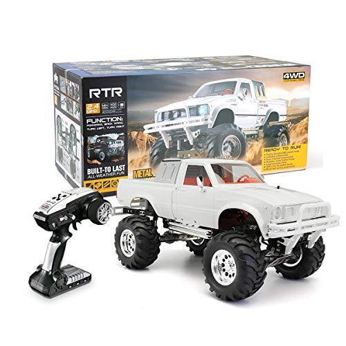ホビー/ラジコン / 車・トラック/HG P407 1/10 2.4G 4WD 3CH Rally RC Car Metal 4X4 Pickup Truck Rock Crawler RTR
