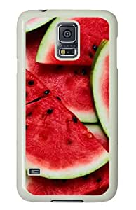 Samsung Galaxy S5 Case and Cover - Watermelon PC Hard Case Cover for Samsung Galaxy S5 White