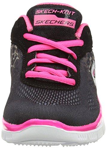 En Serengeti De Skechers Fille rose Noir Sports noir Salle Appeal Chaussures néon qgxttXT