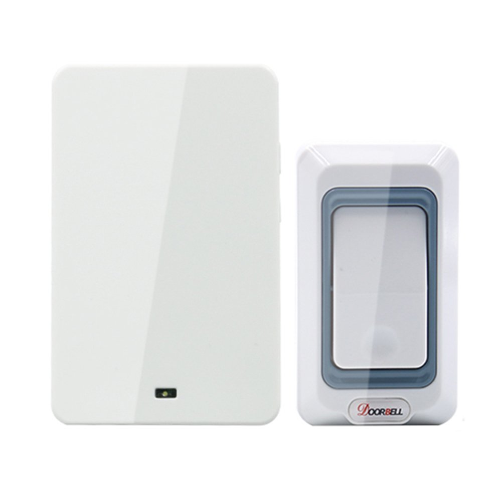 MIAO@LONG Wireless Door Bell Kit Work Over Range 492-Feet(150M) With LED Light Of Receiver With 28 Chimes 4-Level Adjustable Volume,White