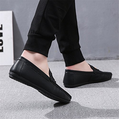 Casual White Men's ONS Office Black Outdoor amp; Career Red Loafers Slip Summer Shoes Athletic Black for Comfort HUAN PU amp; TxRPwP8