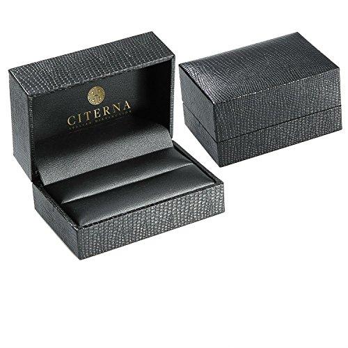 Citerna - AR015Y - Boucles d'Oreille Femme - Or Jaune 375/1000 (9 Cts) 1.2 Gr - Verre