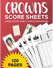 Crowns Score Sheets : 120 Pages Five Crowns Card game score sheets, Five Crowns Score Pads For Scorekeeping