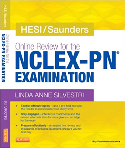 hesi saunders online review for the nclex pn examination 1 year