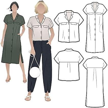 Style Arc Patrón de costura – Monty camisa y vestido (tallas 04-16) – Clic para otros tamaños disponibles