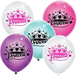 "Unique 55185 9"" Princess LED Light Up Balloons, 12 Count"