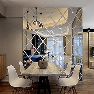 Der Diamant Spiegel Spiegel Dreidimensionale Wandaufklebern