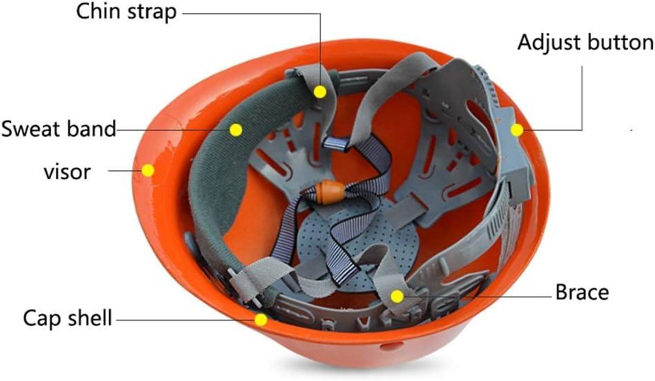 ZHongWei- Schutzhelm, FRP Schutzhelm, Sommer atmungsaktiv und Anti-impact Engineering Construction Dome Helmet (Color : Wine red) Wine Red