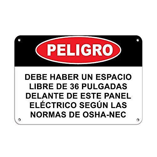 危険電気パネルOSHAの前に36インチの空きスペース 金属板ブリキ看板注意サイン情報サイン金属安全サイン警告サイン表示パネル