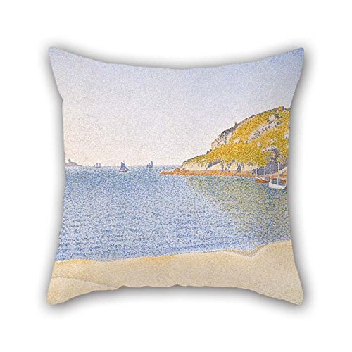 Oil Painting Paul Signac - Port Of Saint-Cast Pillow Shams 16 X 16 Inches / 40 By 40 Cm Gift Or Decor For Chair Divan Bar Seat Husband Dinning Room Wife - Double (Cast Seat Side Chair)