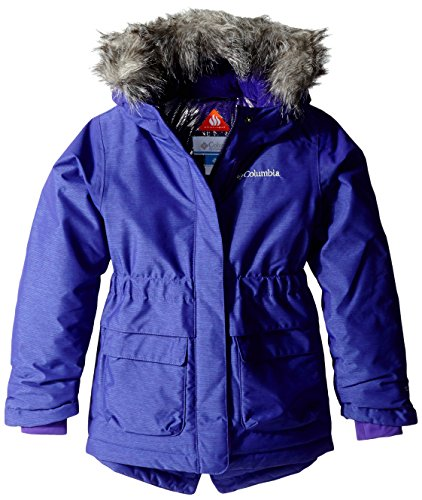 Columbia Girl's Nordic Strider Jacket, Hyper Purple, Large
